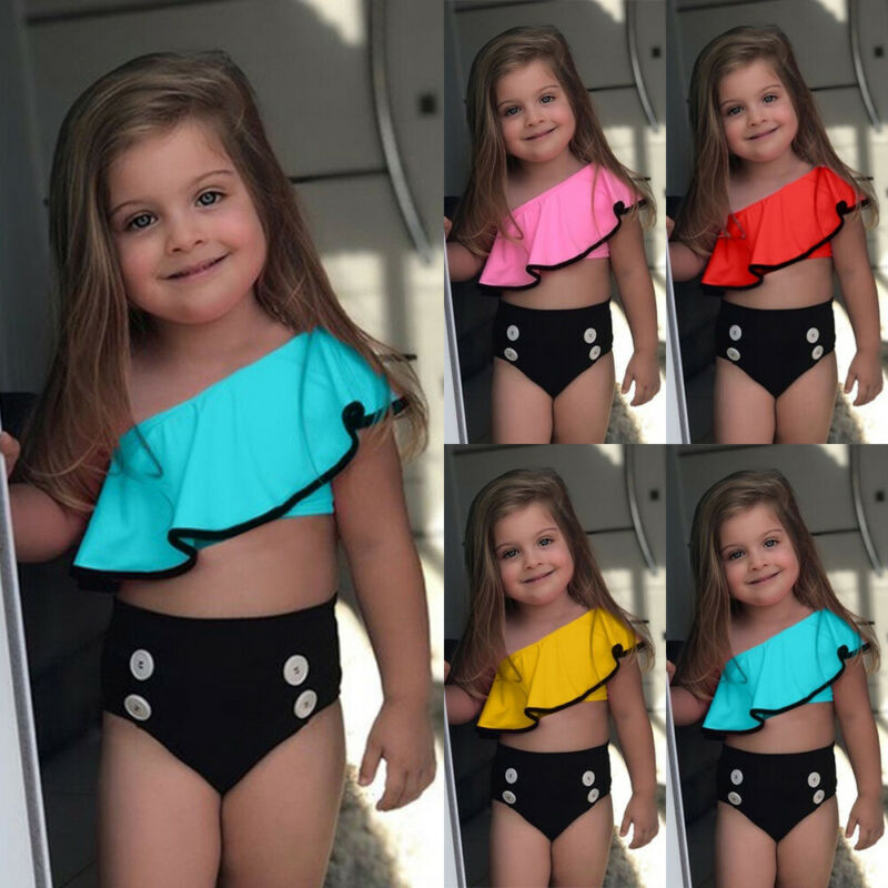 Summer Baby Girl 2pcs Bikini Set Swimsuit Swimwear Bathing Suit Beach Costume US