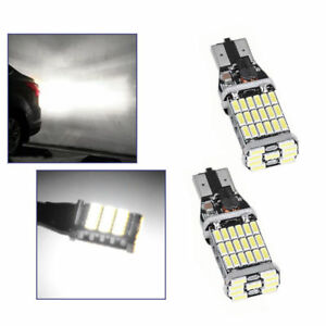 2x 6000K White 921 912 T15  Error Free LED Bulb Reverse Backup Turn Signal Light