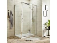 1200mmx760mm rectangular shower. Sliding 8mm door and side panel.