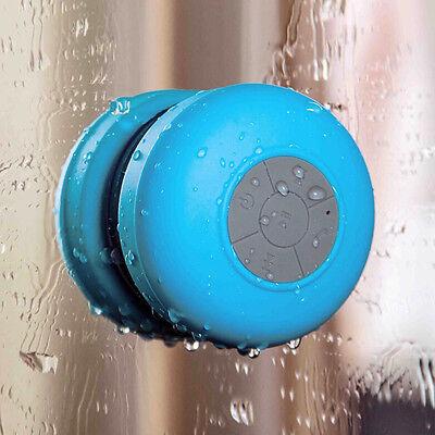 Wireless Bluetooth Handsfree Waterproof Mic Suction Mini Speaker Shower Car Blue on Rummage
