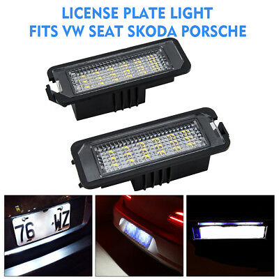 2 LED License Number Plate Light VW Golf MK4 MK5 MK6 Passat Polo CC Eos Scirocco