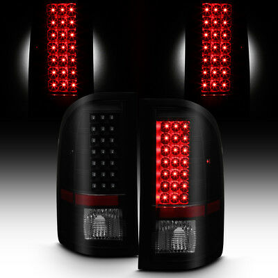 Blk Smoked 2007-2013 Chevy Silverado 1500/07-14 2500 3500 LED Tail Lights Lamps