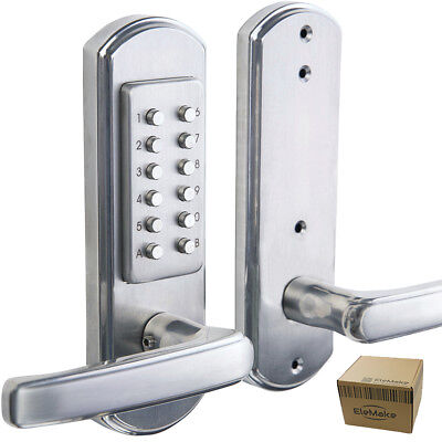 Combo Keyless Entry Lock - Mechanical Door Lock Keyless Entry Exterior Security Combination Code Outdoor