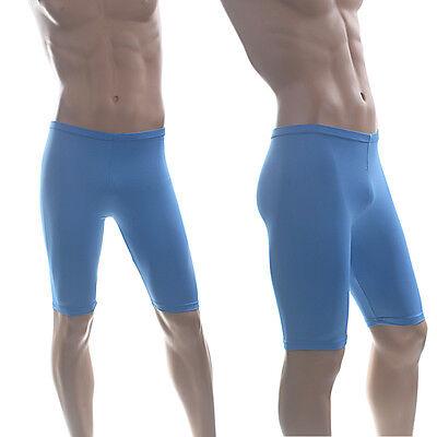 NEW VIGA Mens XL Shiny Lycra Running Cycle Gym Shorts Swim Jammer RUN.224.Mini