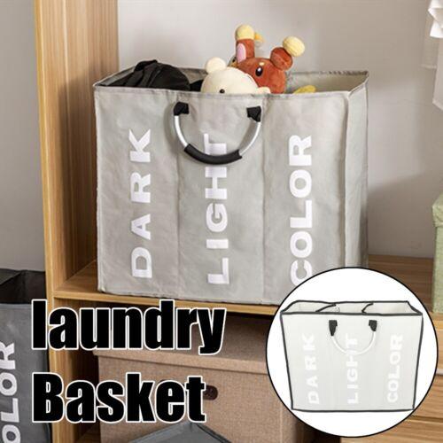 large foldable 3 sections laundry basket bin