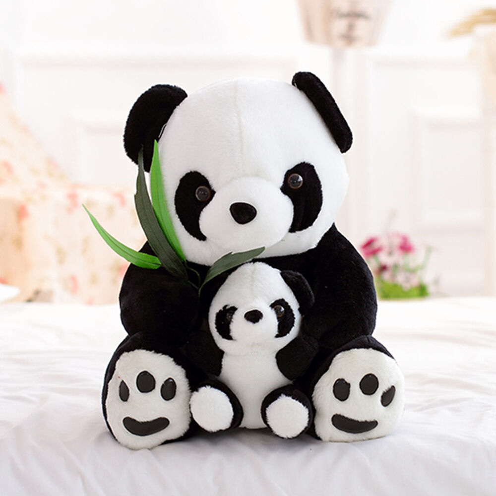 Stuffed toy panda girl pink dildo in ass 10