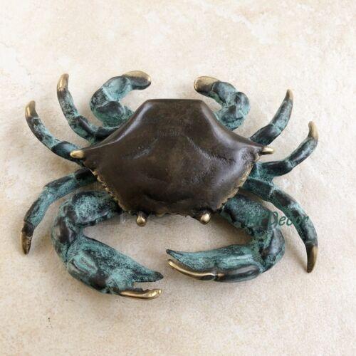 Brass Crab Door Knocker Coastal Nautical Beach Tropical Sea Life~ SPI Home 30748