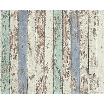 NEW AS CREATION PAINTED WOOD BEAM PATTERN FAUX EFFECT TEXTURED VINYL WALLPAPER