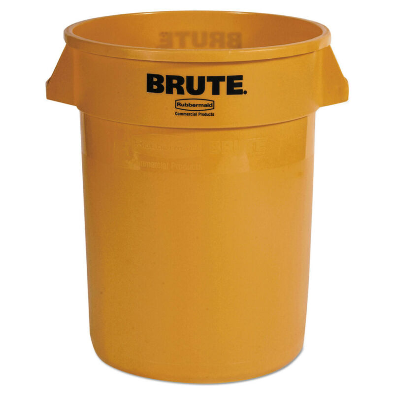 Rubbermaid RCP2632YEL Brute 32 gal Plastic Container - Yellow New