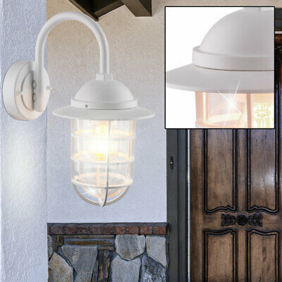 Outdoor wall lantern veranda ALU lighting glass spotlights white facades light