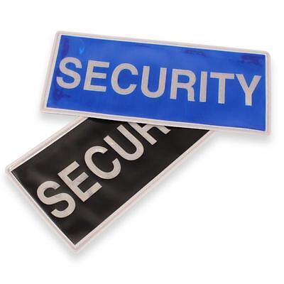 Reflective Large Security Badge Blue Or Black