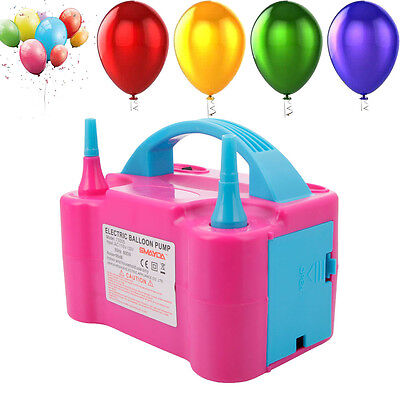 Portable High Power Two Nozzle Air Blower Electric Balloon Inflator Pump for US (Inflate Balloons)