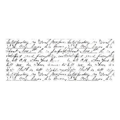 "Kaisercraft Clear Stamp - Script Background 2""x5"" Handwriting"