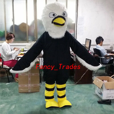Customizable Halloween Costumes (Eagle Mascot Costume Halloween Suits Adults Animal Festival Party Cosplay)