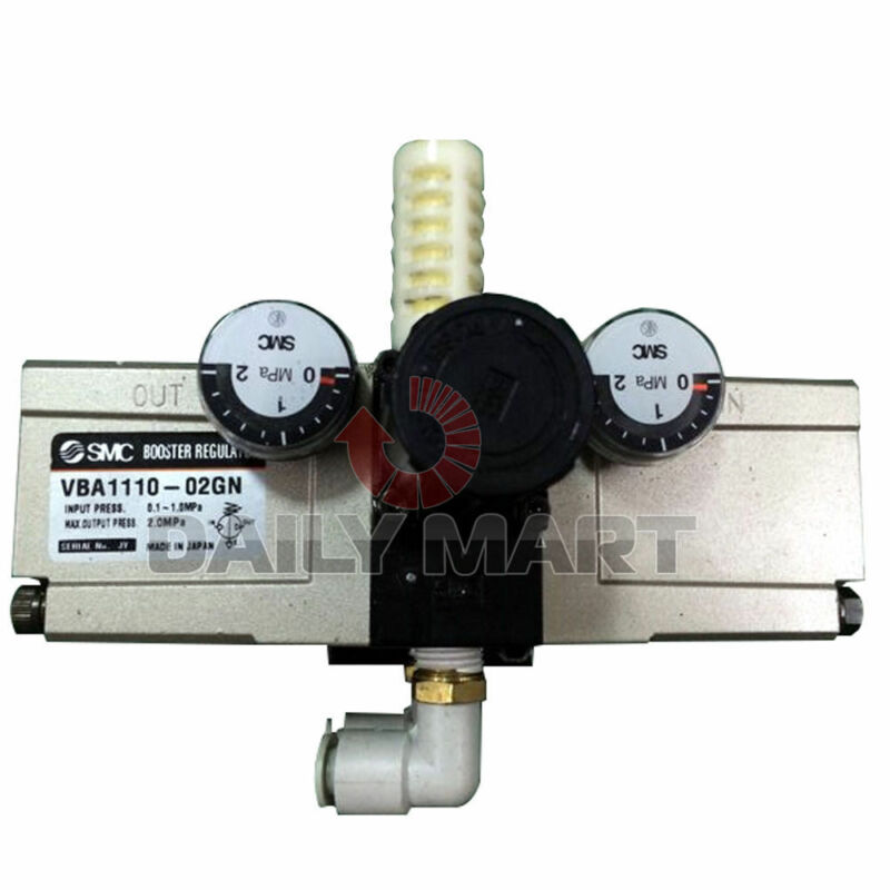 New SMC VBA1110-02GN VBA Series Pneumatic Pressure Booster/Regulator 2MPa
