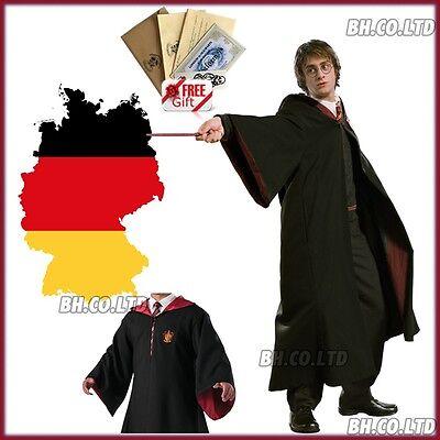 Harry Potter Robe Für Erwachsene (KosteNEU Harry Potter Kostüm Gryffindor Robe für Erwachsene/Kinder Umhang TATTOO)