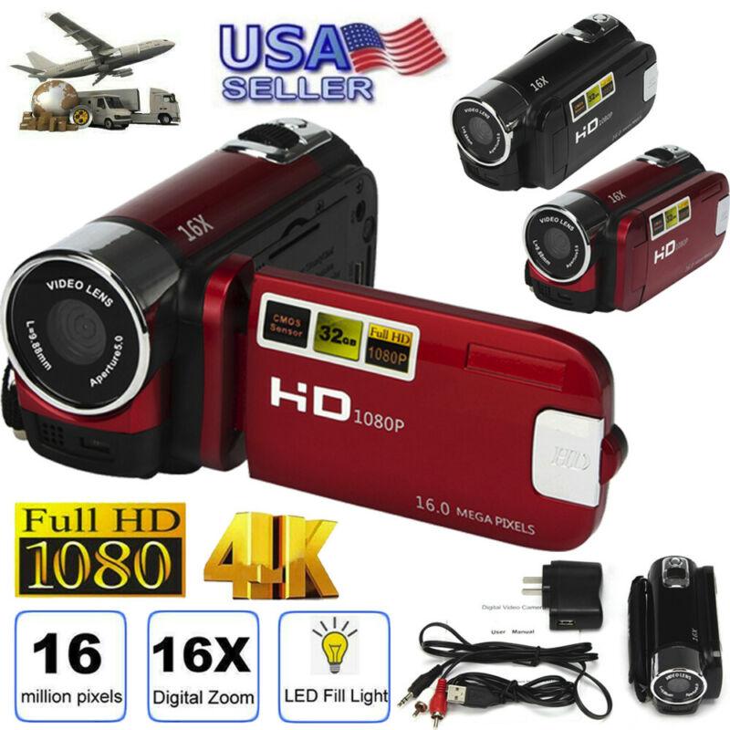 Digital Video Camera 4K HD Camcorder TFT LCD 24MP 16x Zoom D