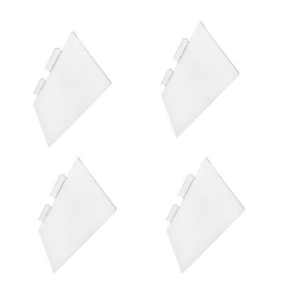 4 Pc Slatwall Shelves Shelf Shoe 12 X 6 Display Flat Styrene Clear Acrylic