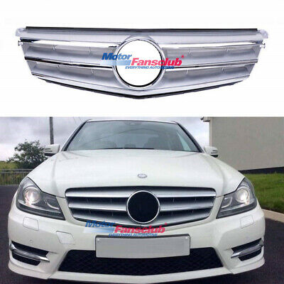 For Mercedes-Benz C Class W204 Silver Front Grill Grille C300 C350 C250