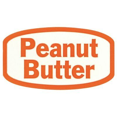 White Traditional Flavor Food Packaging Labels Orange Imprint Peanut Butter -