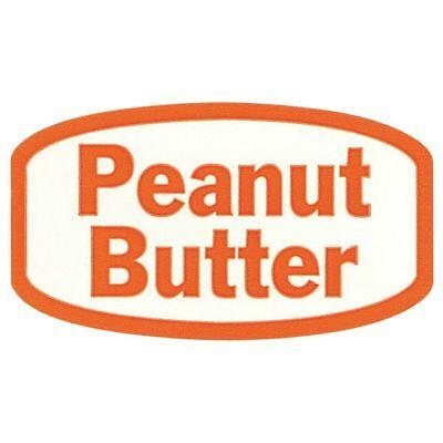 White Traditional Flavor Food Packaging Labels Orange Imprint Peanut Butter -