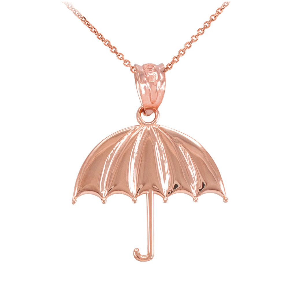 10k rose gold open retracted sunshade protected