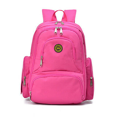 Baby Diaper Bag Nappy Backpack Change Pad Insulation Pocket Fit Stroller Pink