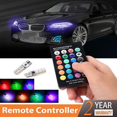 T10 5050 Remote Control Car Led Bulb 6 Smd Multicolor W5w 501 Side Light Bulbs C
