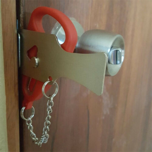 Details about Safety Security Privacy Portable Door Travel Hotel School  Lockdown Lock