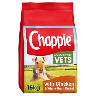 15kg Chappie Complete Dry Adult Dog Food with Chicken and Wholegrain Cereal