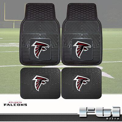 Atlanta Falcons NFL Heavy Duty Vinyl 2-Pc & 4-Pc Floor Car Truck SUV Mat (Atlanta Falcons Nfl Car Mats)