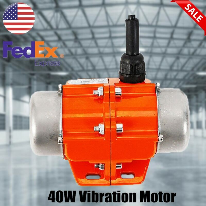 40W Vibration Motor AC110V Industrial Single Phase Asynchronous Vibrator 3600rpm