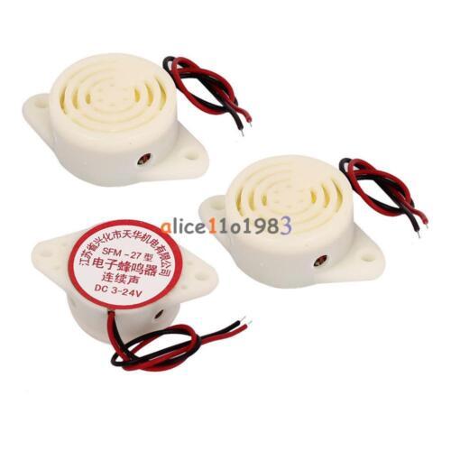 2PCS SFM-27 DC 3-24V 90DB Intermittent Beep Alarm Electronic Buzzer Sounder