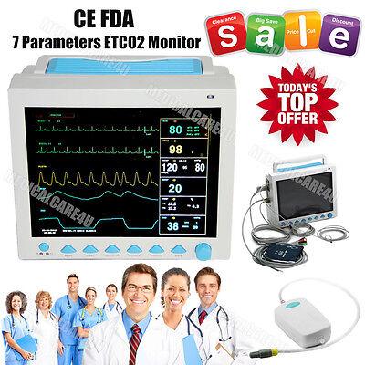 Us Seller Capnograph Co2 Patient Monitor Etco2 Vital Signs 7 Parametersfdace