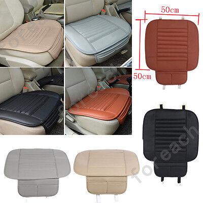 Car Seat Cushion Cover Breathable PU Bamboo Charcoal Pad Mat Protector Pocket US