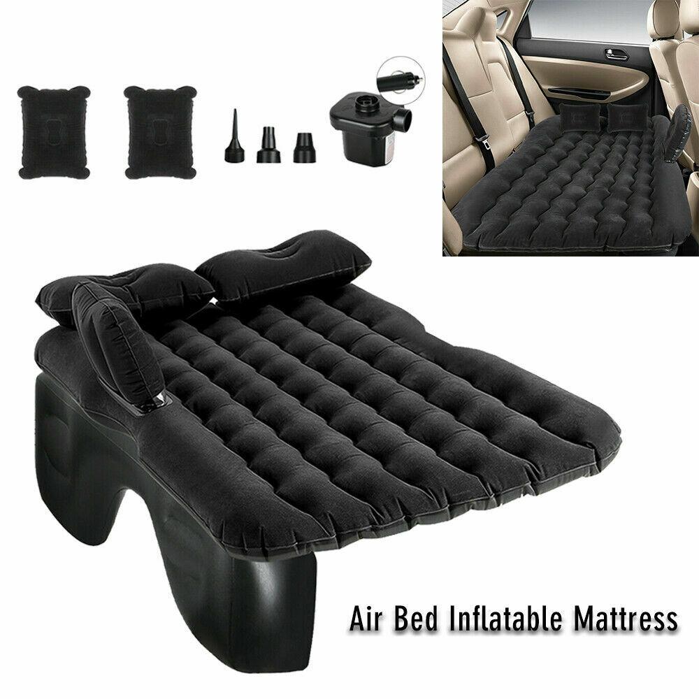 Car SUV Air Bed Sleep Travel Inflatable Mattress Seat Cushion Mat Camping w Pump Beds & Mattresses