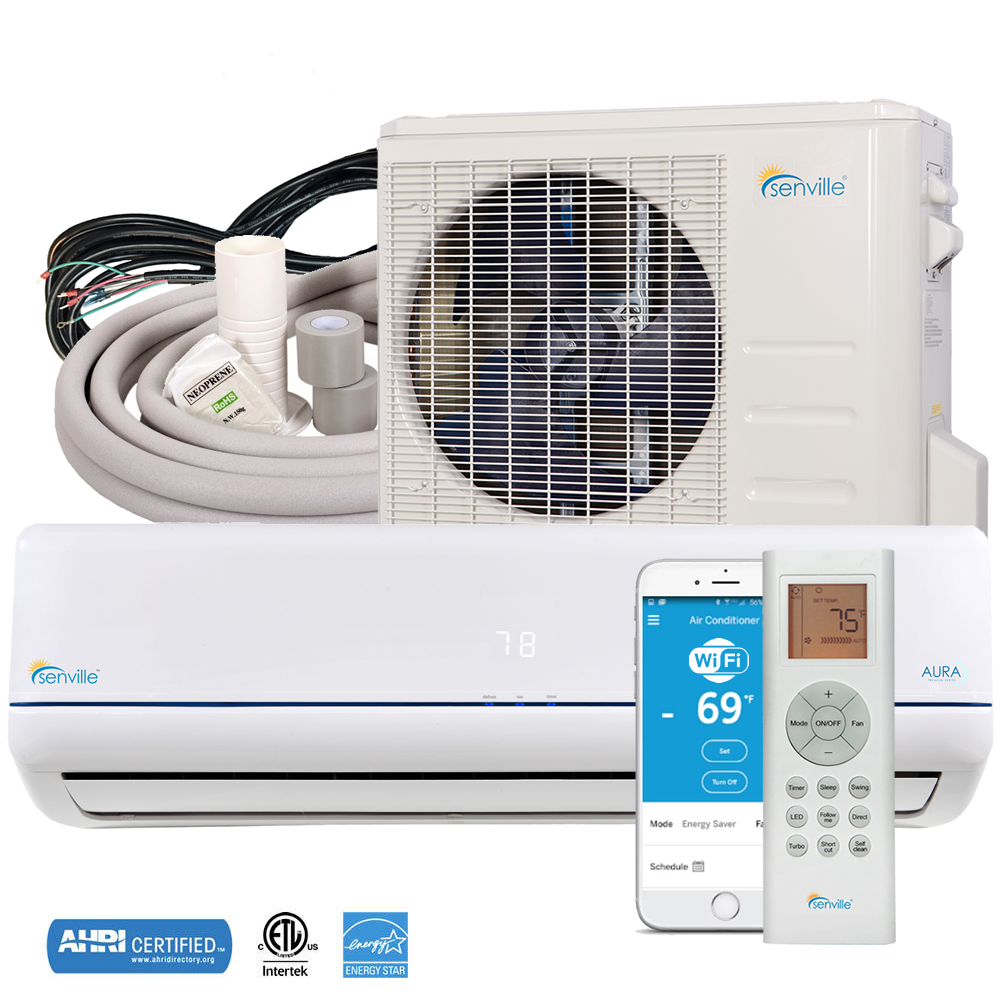 12000 BTU Ductless AC Mini Split Air Conditioner and Heat 22