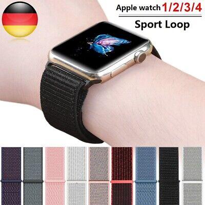 Apple Watch Nylongewebte Armbänder Sport Loop Series 5/4/3/2 38mm 40mm 42mm 44mm