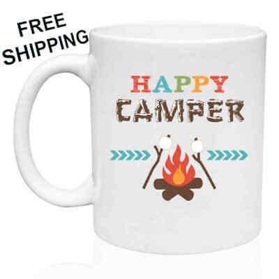 Happy Mug - Happy Camper, Camping, Mug 11oz  - Gift