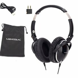 Active Noise Cancelling Overhead Headphones, Heavy Deep Bass Earphones With Microphone Travel