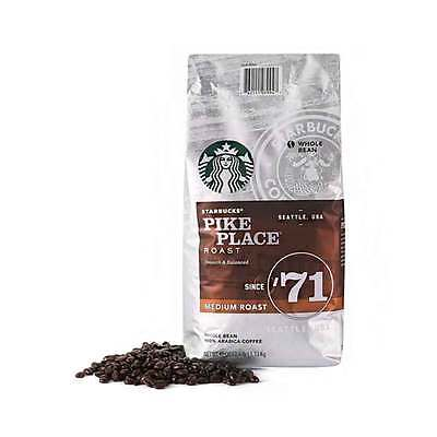STARBUCKS Pike Place Medium Latin American Whole Bean Coffee 40OZ/1.13kg 100%