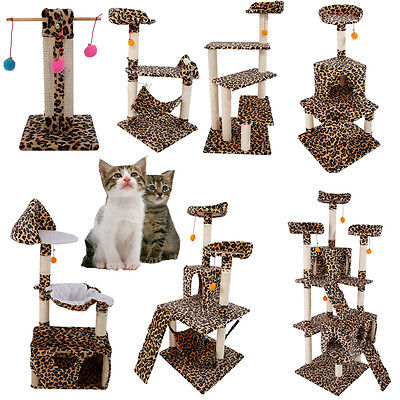 "20""-72"" Cat Tree  Condo Furniture Scratching Post Pet Kitty Play House"