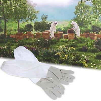 Schützende Bienenzucht Handschuhe Ziegenfell Biene belüfteten langen Ärmeln GE