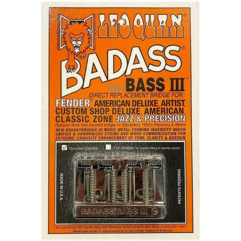 NEW Leo Quan Badass Bass III BRIDGE for Fender Precision Jazz Chrome BB-0336-010
