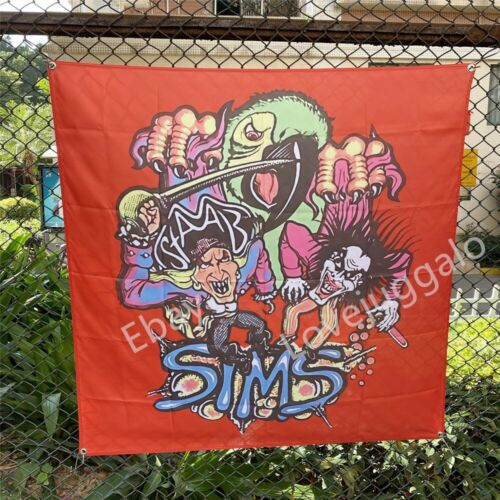 SIMS Skateboard Banner Kevin Staab Pirate Parrot Tapestry Flag Art Poster 4x4ft