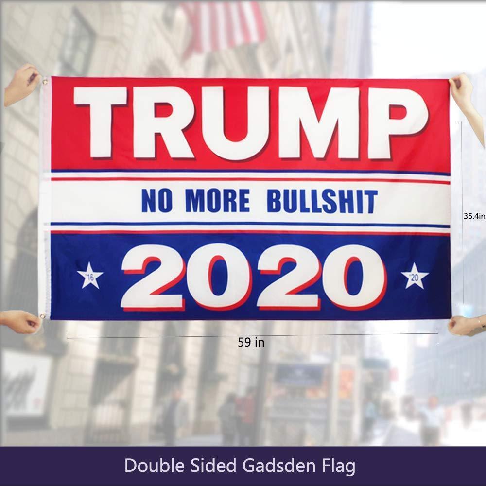 "USA Donald Trump 2020 Flag No More Bullshit 3X5/"" MAGA Flag Banner Flag A+++"