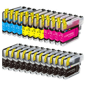 24PK LC61 Ink for Brother MFC-5890CN MFC-5895CW MFC-6490CW MFC-J615W MFC-J630W