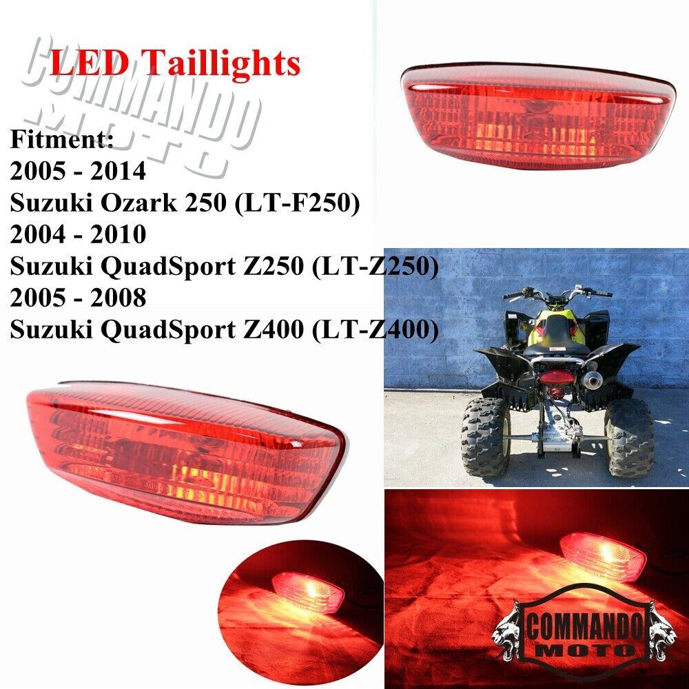 Rear Brake Tail Light Lens Bulb LTF250 LTZ400 LTF400 LTF500 LTA