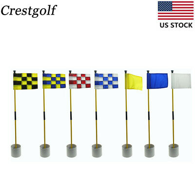 - CRESTGOLF Backyard Putting Green Golf Flagstick--Golf Hole Pole Cup Flag Stick