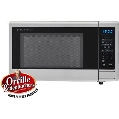 Carousel 1.1 Cu. Ft. 1000W Countertop Microwave Oven in Blac
